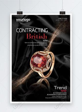 Affiche de bijoux et de propagande de luxe Modèles