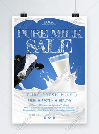 Affiche de promotion du lait frais Modèles
