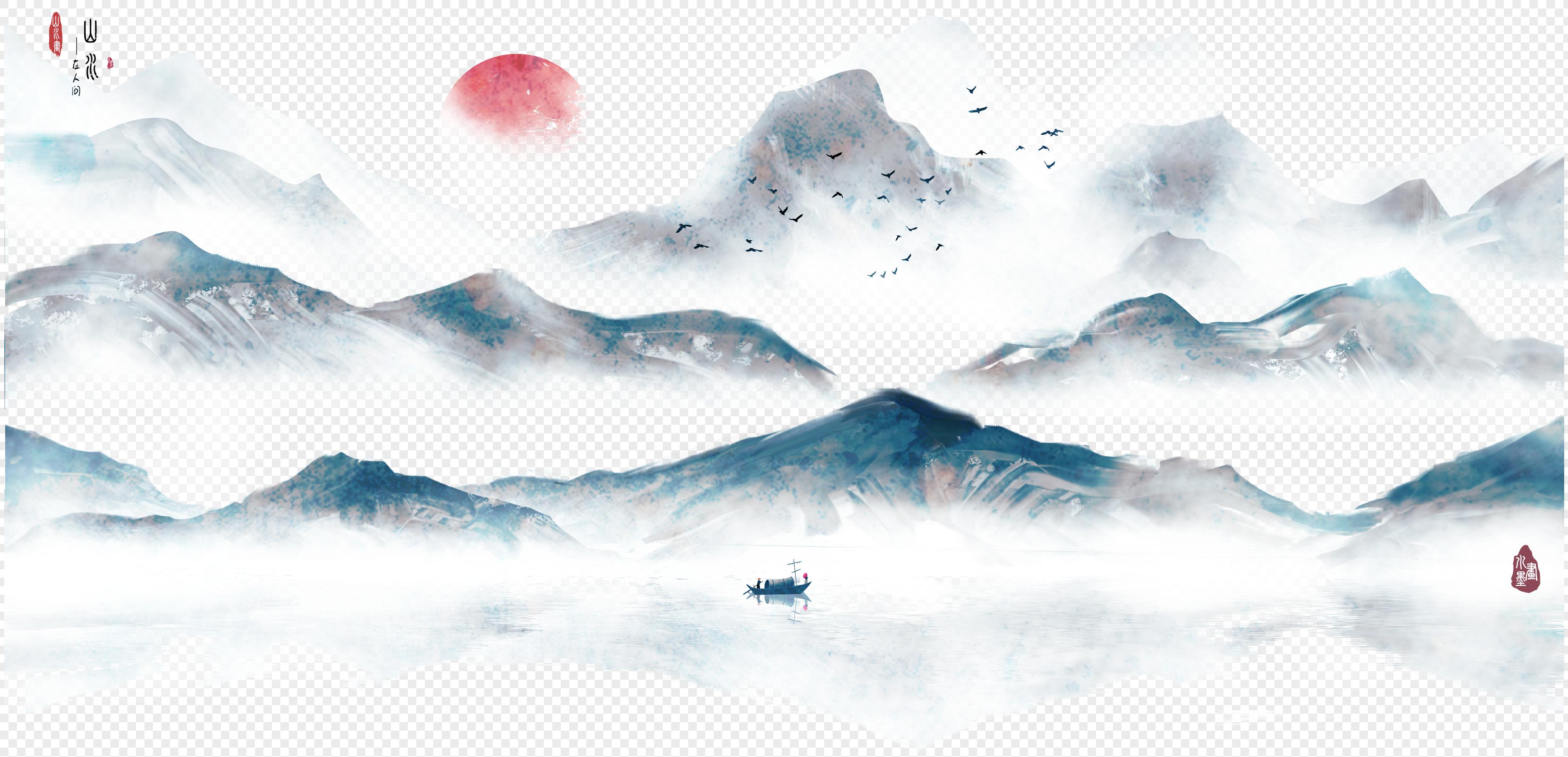 中国风水墨山水画图片素材编号400263195_prf高清图片