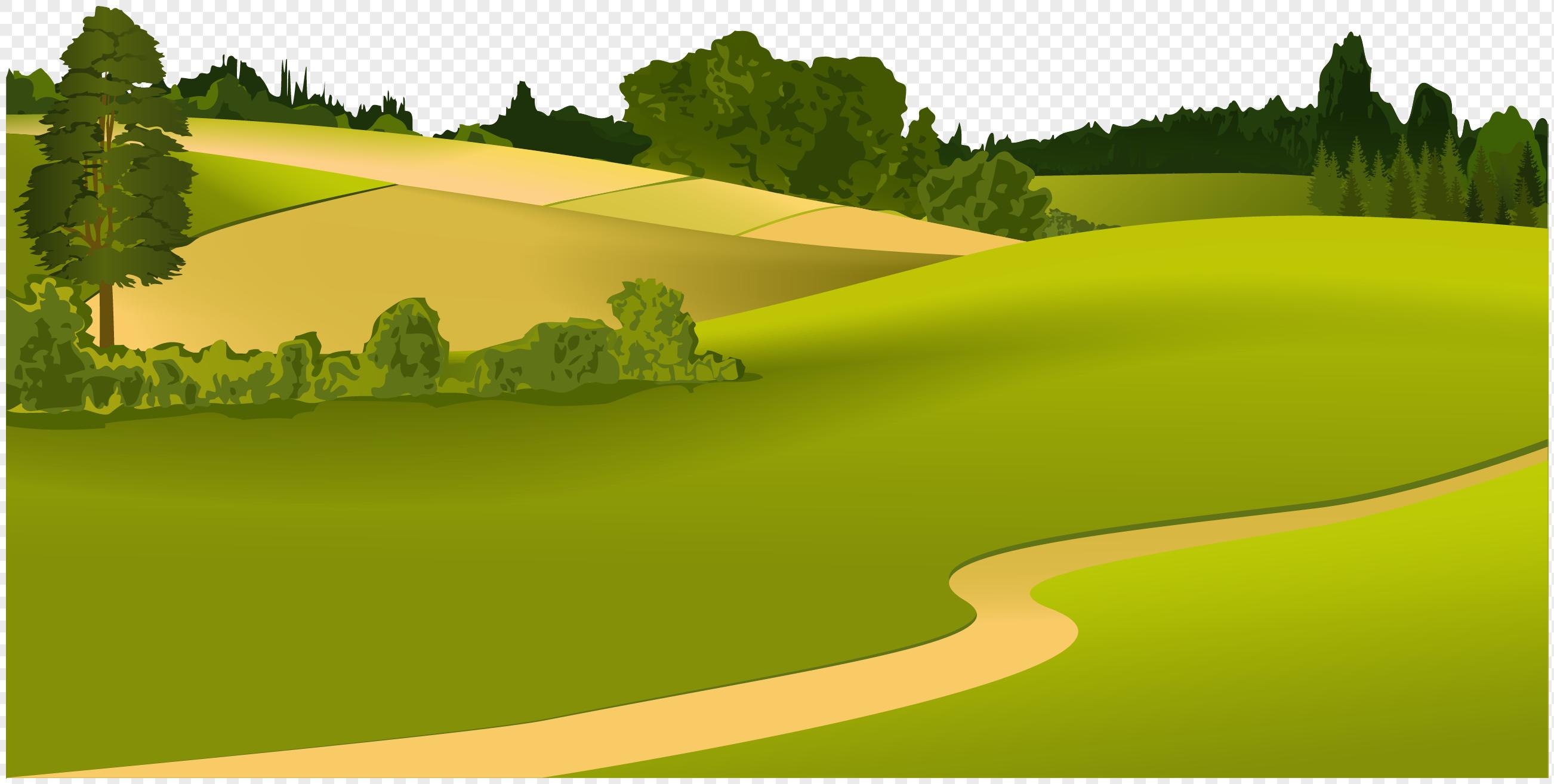 草原风景矢量