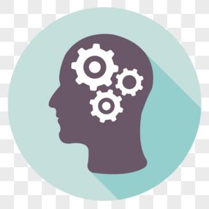 商用矢量2 5d科技感齿轮大脑素材
