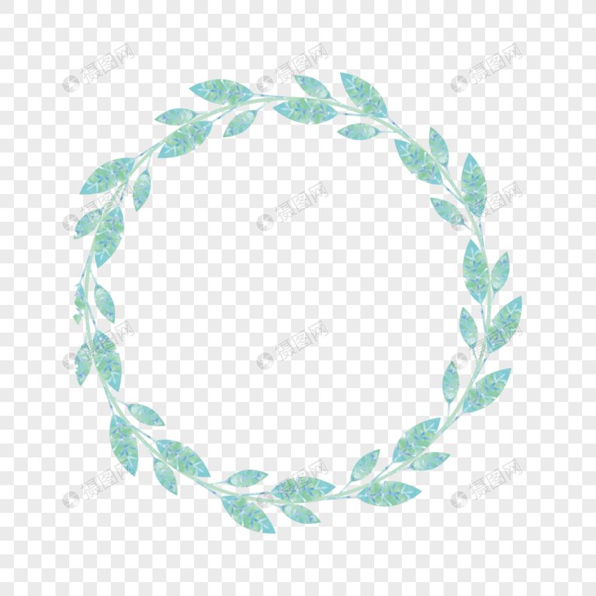 手绘圆形花纹边框素材图片素材编号400538997_prf高清