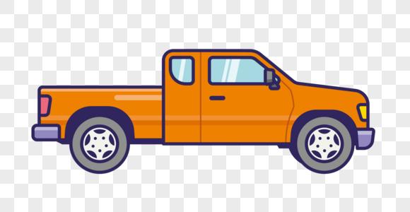 卡通小货车插画矢量图形 photo