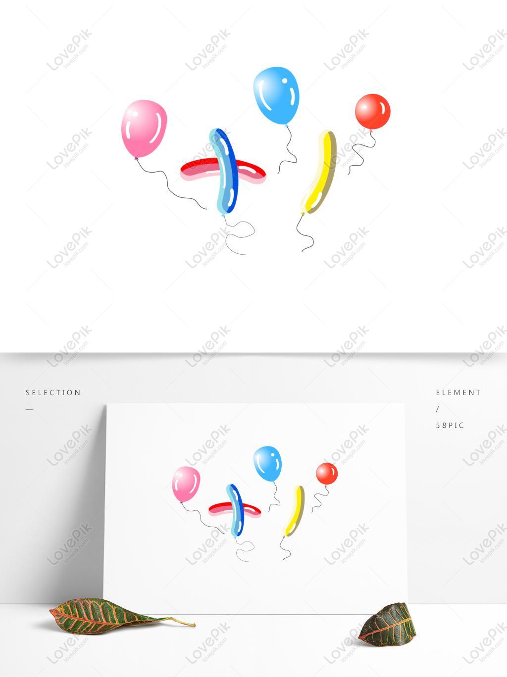 国庆气球矢量手绘插画
