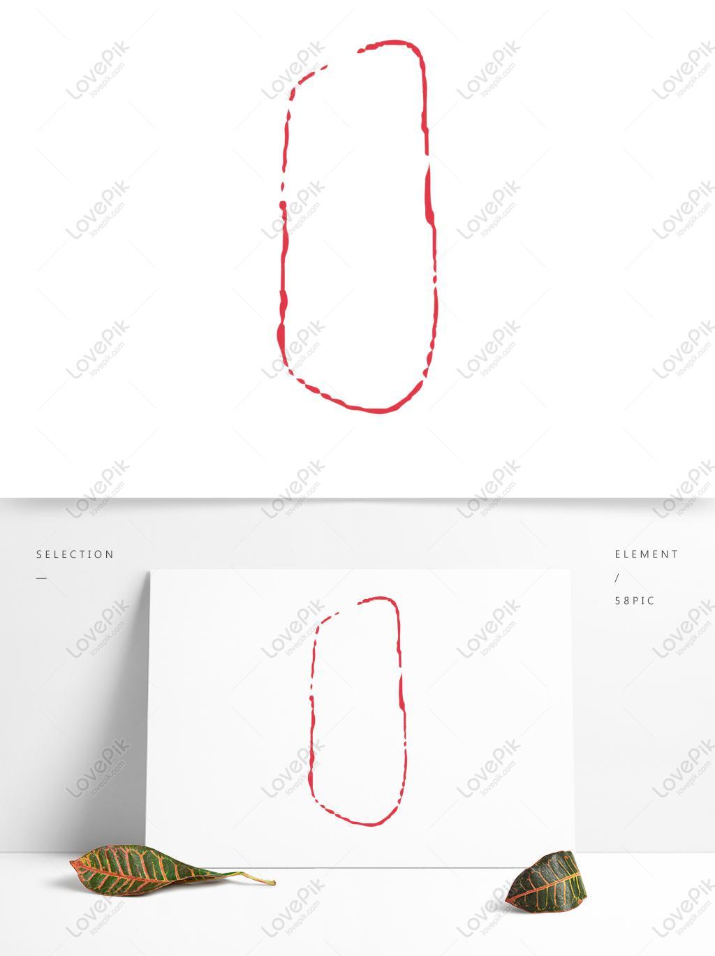 矢量中国风红色圆形边框花纹装饰框图片素材-ai图片