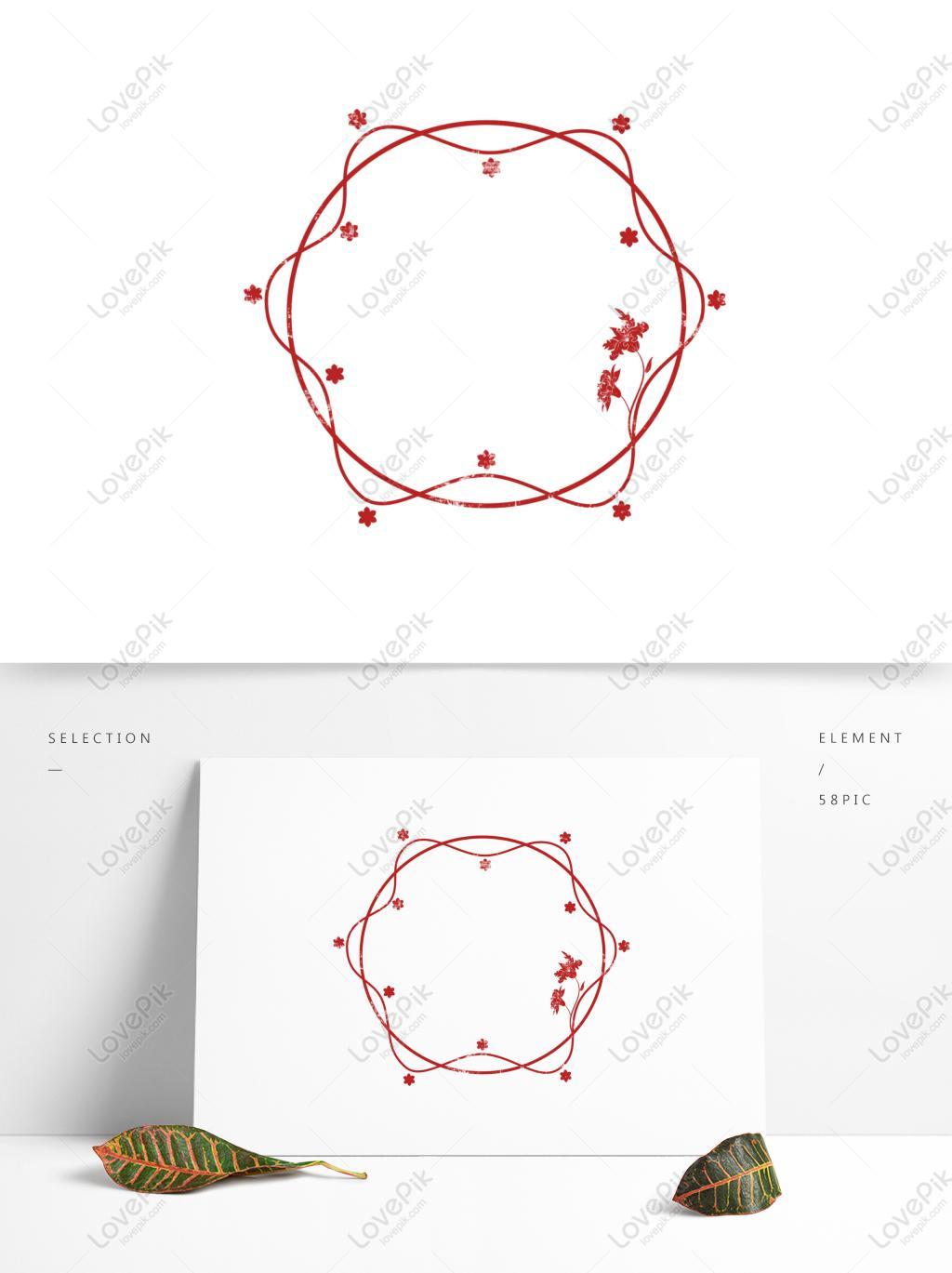 印章边框红色古典中式印章边框图片素材编号732253645