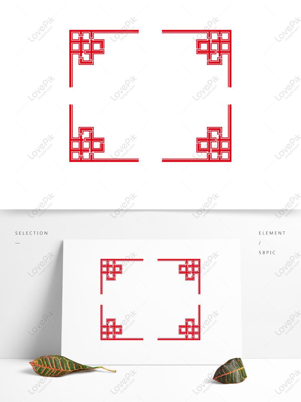 简约大气中国风边框创意古典红色中式边框