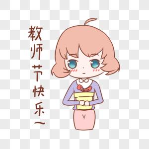 教师节女教师人物头像插画图片素材编号611003043_prf