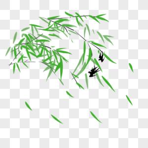 中国风意境手绘竹子水彩插画 photo