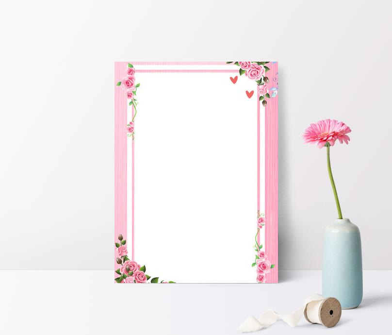 romantic pink floral background psd layered advertising backgrou