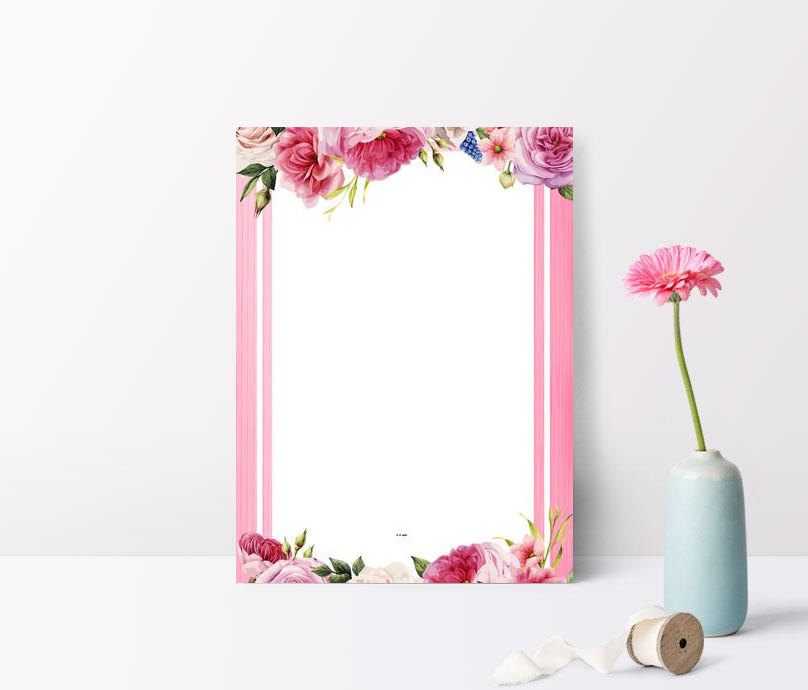 small fresh floral romantic pink background psd layered advertis