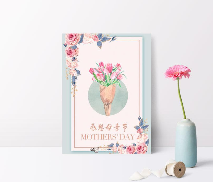 beautiful and warm mothers day background