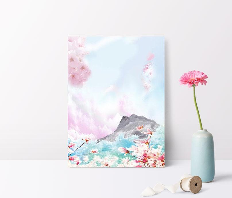 beautiful fresh pink background