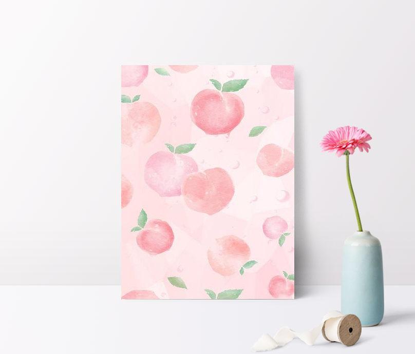 fresh peach pink background