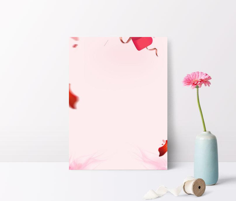 520 valentines day small fresh pink background