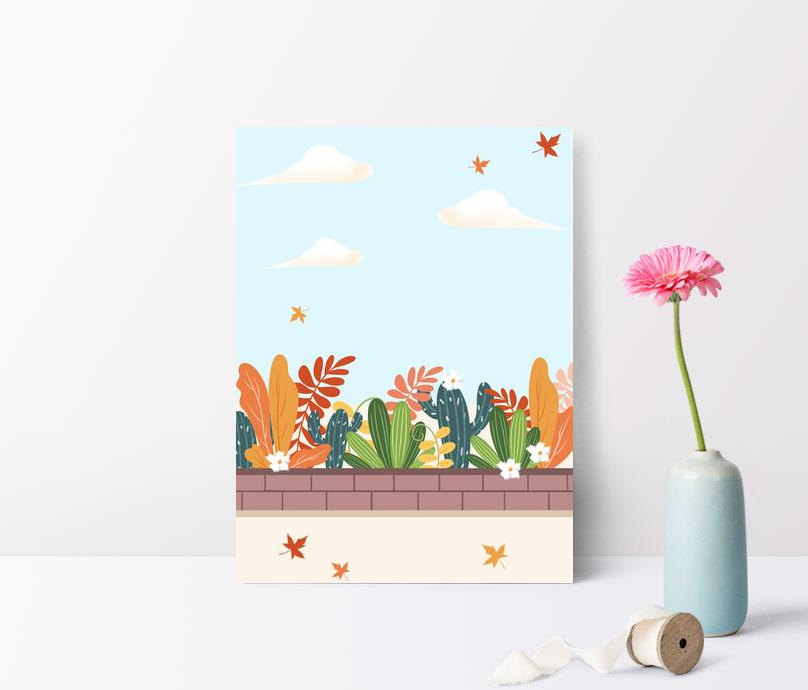 autumn landscape illustration background