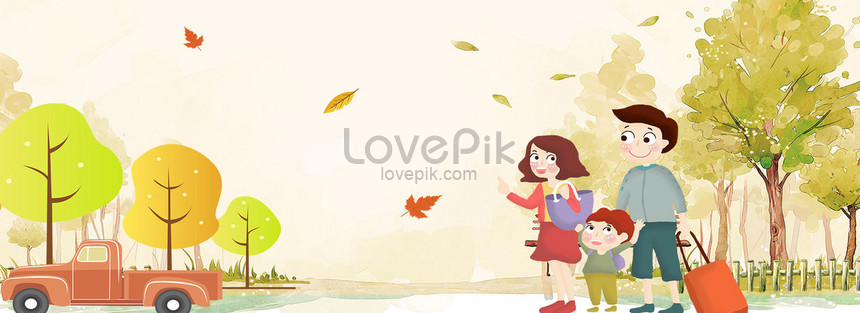 Autumn Family Holiday Cartoon Poster Background Backgrounds Image Picture Free Download 605655853 Lovepik Com