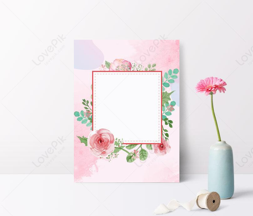 powder color painted flower border background