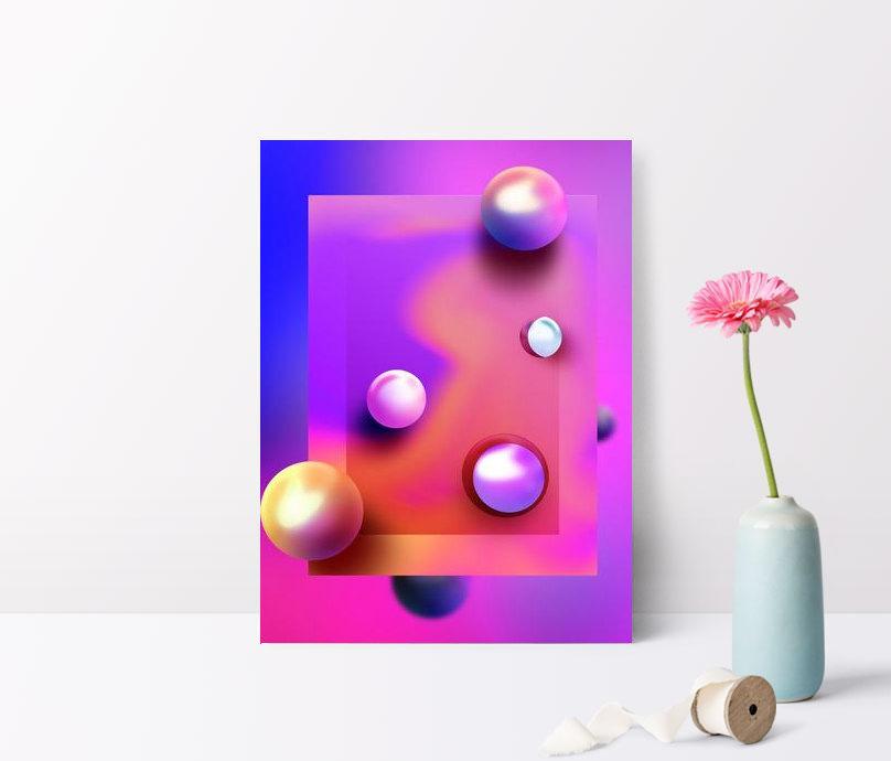 fondo púrpura de la textura del color del gradiente