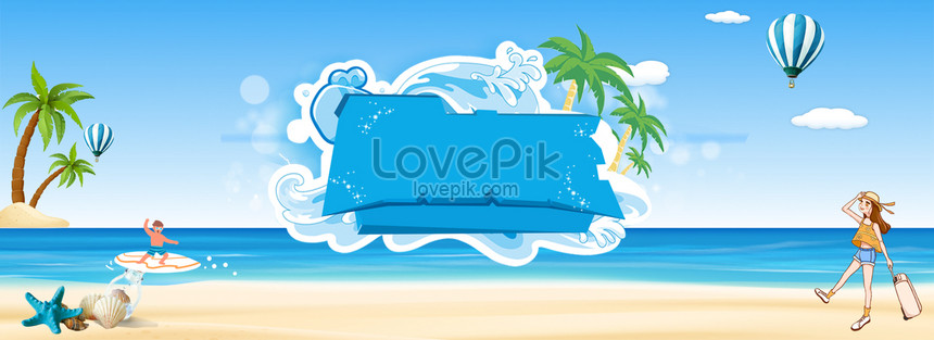 Cartoon Beach Poster Background Backgrounds Image Picture Free Download 605666927 Lovepik Com
