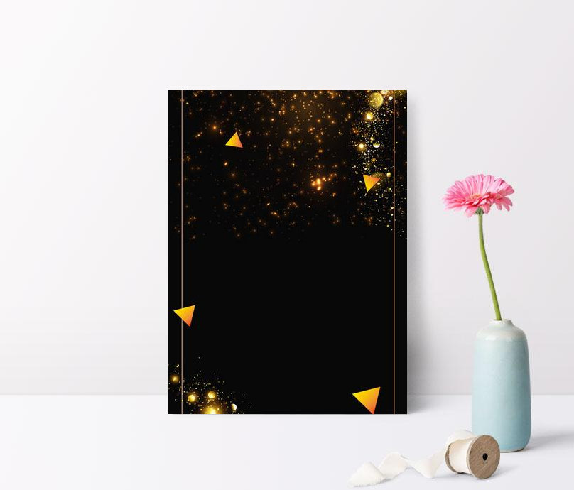 geometric black gold atmosphere black background poster