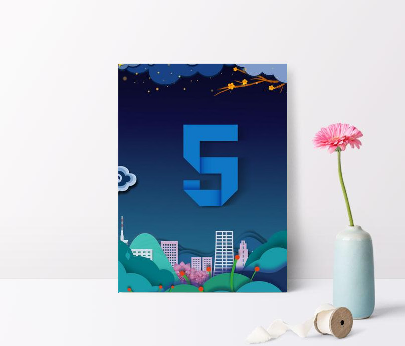 creative synthetic countdown background