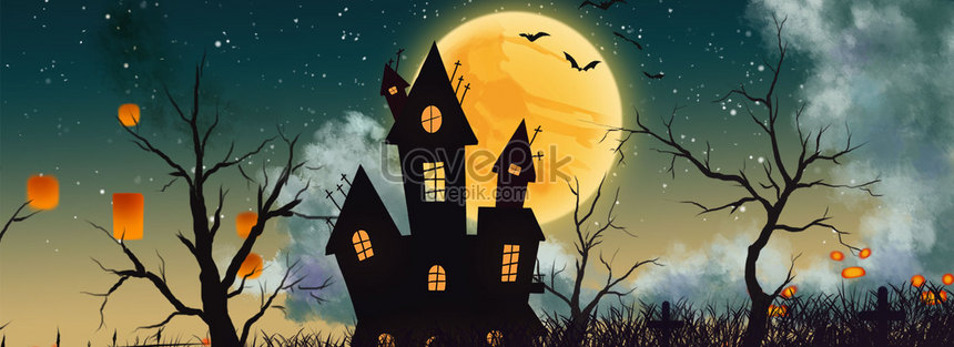 halloween creatieve banner download png
