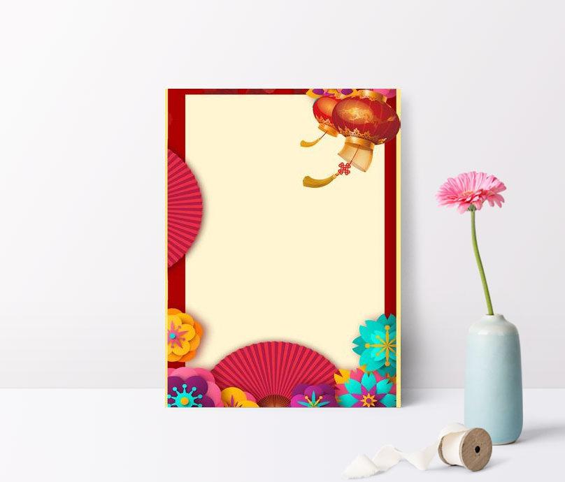 fondo de estilo chino sintético creativo