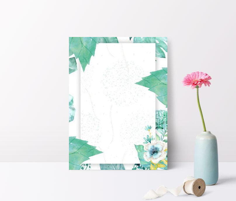 simple small fresh green plant flower background