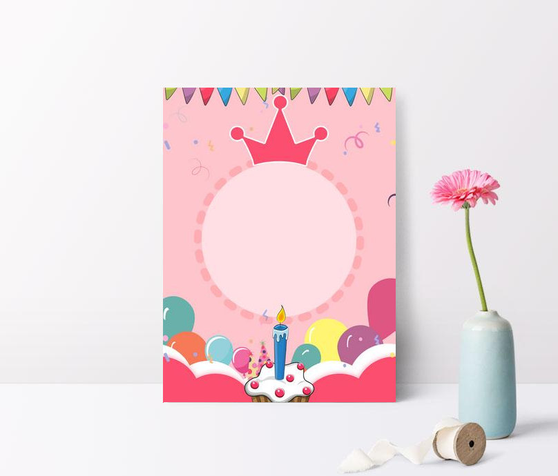 Pink Cartoon Birthday Party Background Illustration Images Hd Psd Poster Backgrounds 605768329 Lovepik Com