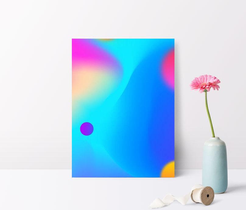 affiche de fond ombrage sphère dégradé violet bleu