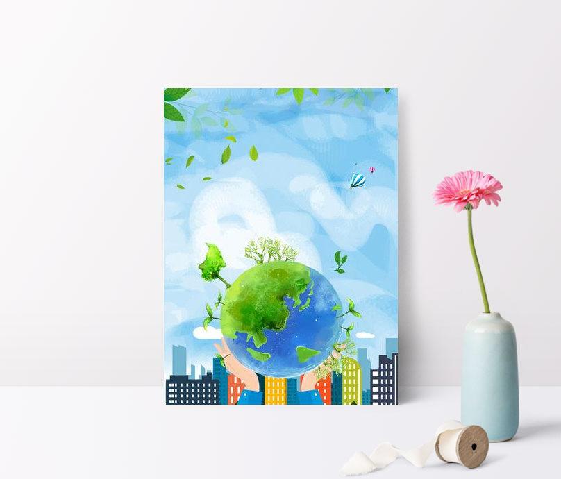 world wetlands day city green globe poster