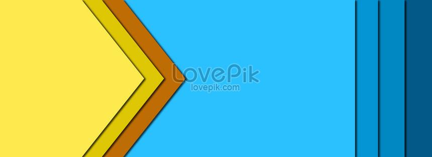 Kontras Warna Yang Sepadan Dengan Perniagaan Latar Biru Kuning P
