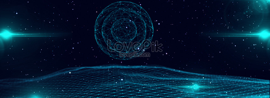 cool tech line background png