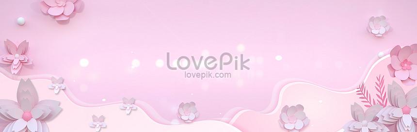 stereoscopic flower poster background