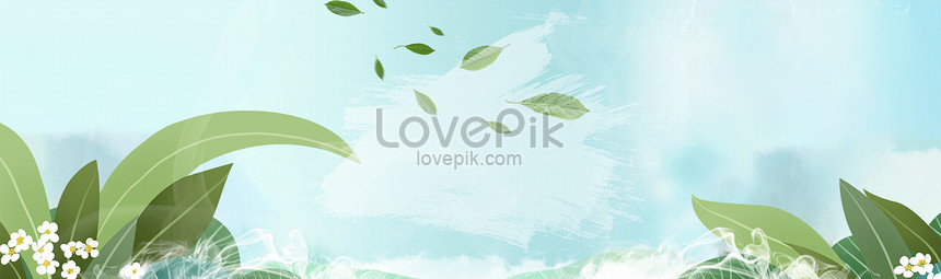 spring front page banner background