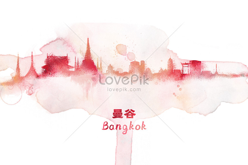 bangkok watercolor illustrations