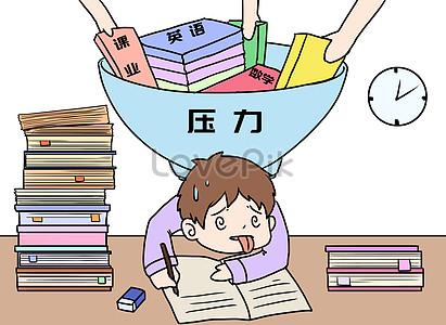 300000 Homework Stress Cartoon Hd Photos Free Download Lovepik Com