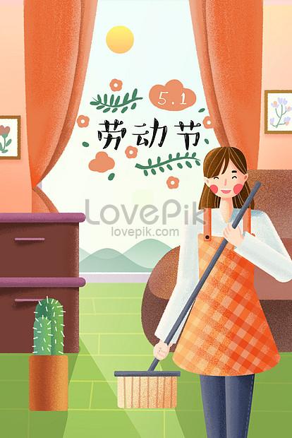 メーデー労働者の日家事イラストポスターイメージ図 Id 630000926prf