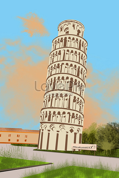 famous landmark leaning tower of pisa png