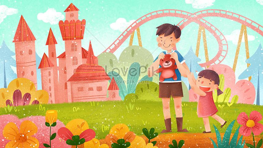 Amusement Park Travel Cartoon Fun Background Illustration Image Picture Free Download 630007073 Lovepik Com