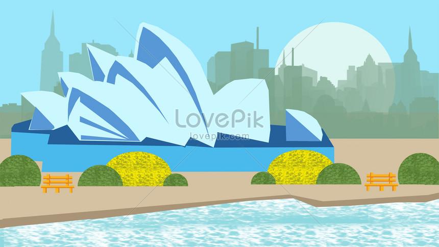 famous landmark city building illustration png
