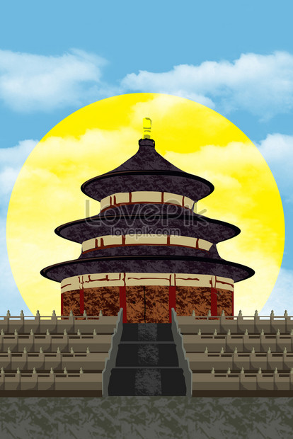 the famous beijing landmark of the temple of heaven png