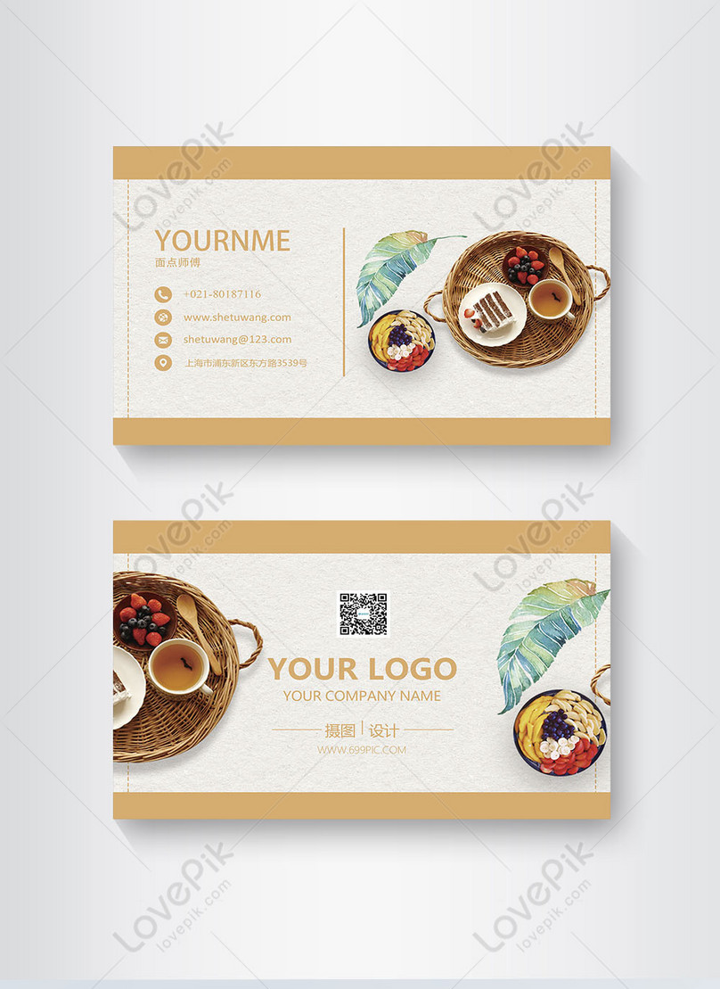 Design Of Creative Food Card Template Image Picture Free Download