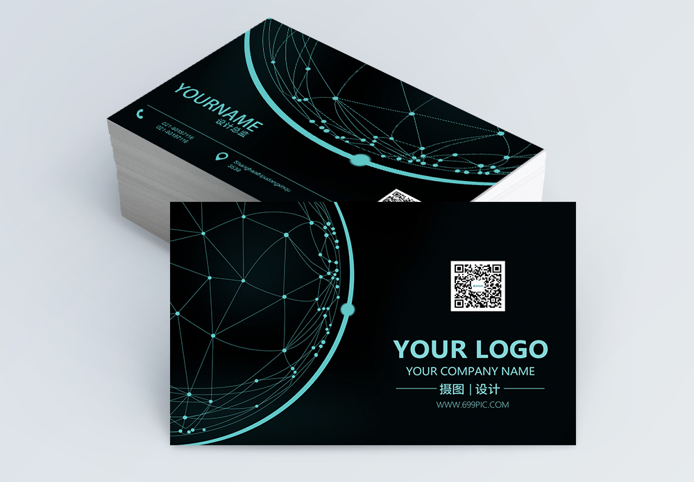 Business card template imageslovepik help you search from 981 black green technology sense of the earth business card design photo wajeb Choice Image