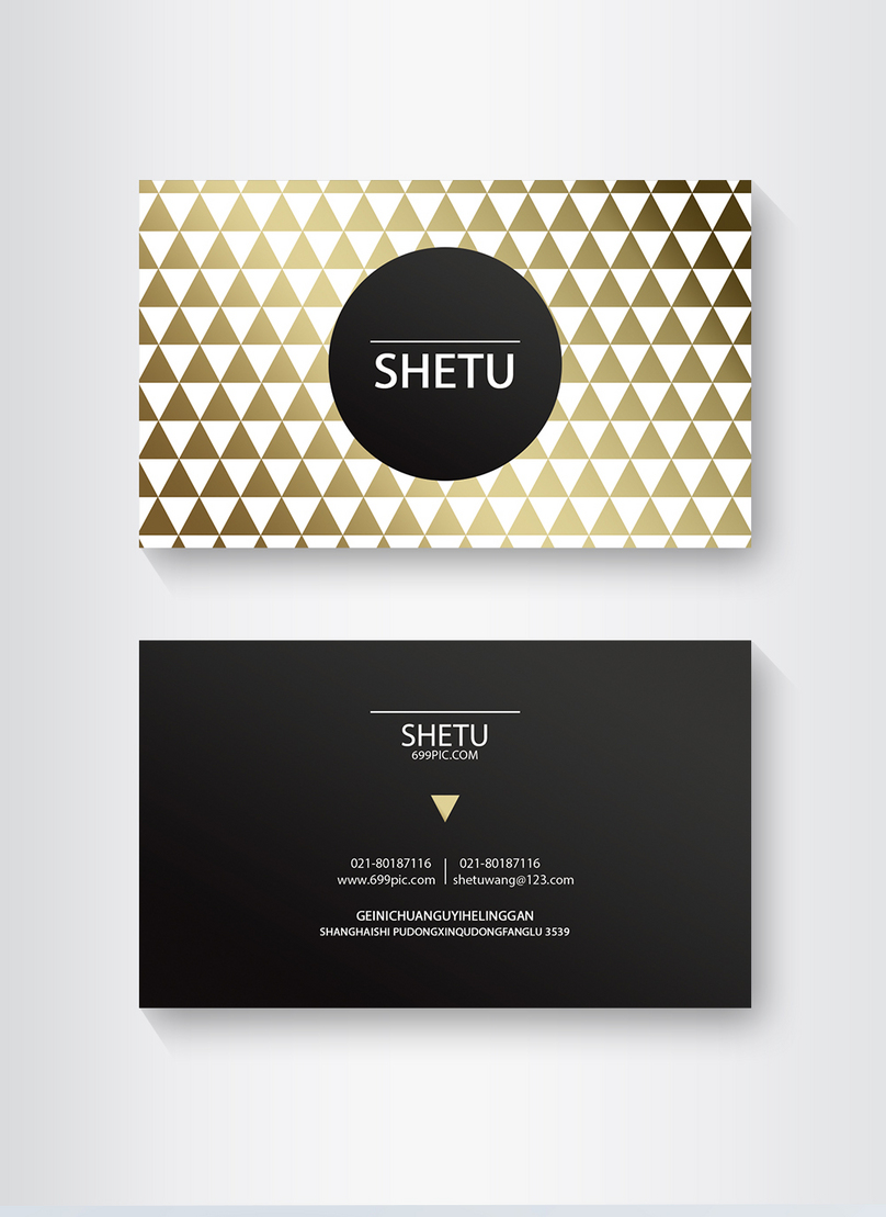 Golden Triangle High End Business Card Design Template Imagepicture