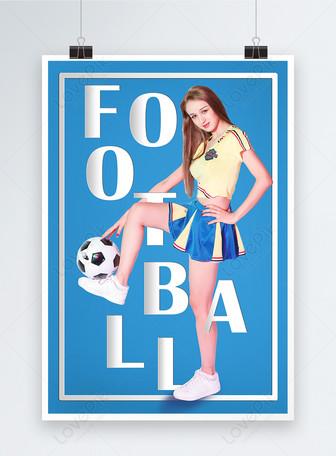 Poster olahraga bayi sepakbola Templat