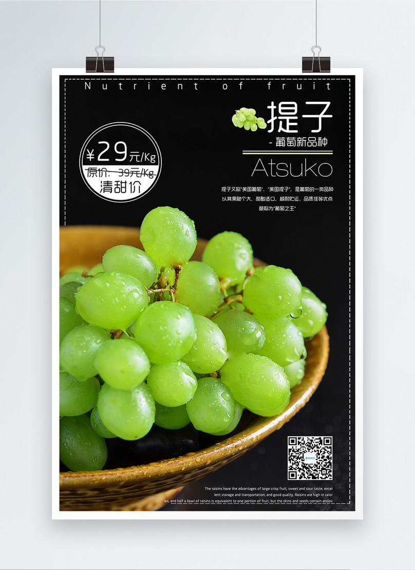 fruit raster poster