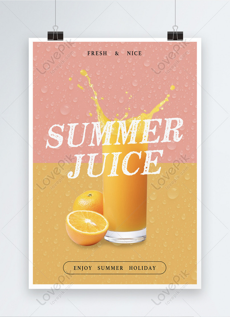 summer orange poster