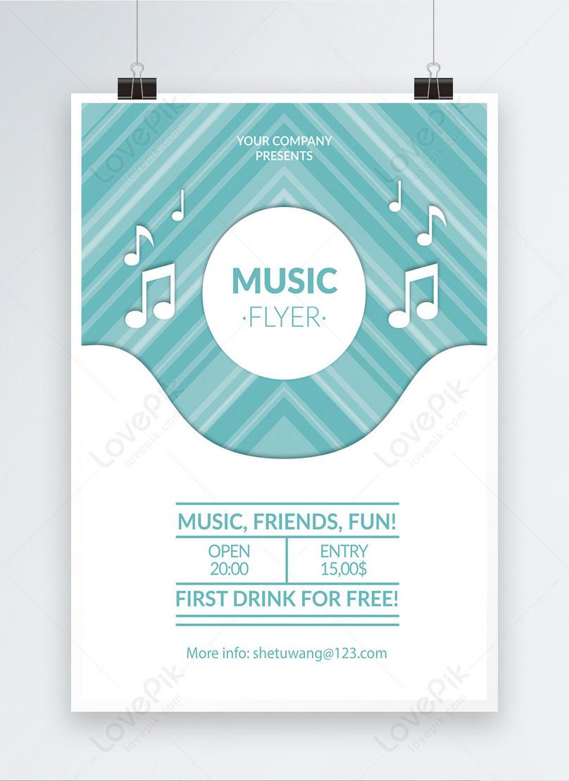 青の新鮮なコンサートポスター